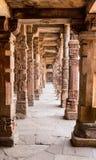 Sandstone columns at Qutab Minar, Delhi, India Stock Images