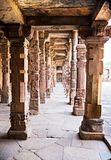 Sandstone columns at Qutab Minar, Delhi, India Royalty Free Stock Image