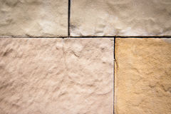 Sandstone. Decorative facade covered with sandstone Stock Photography