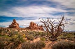 Sandstone desert lanscape Stock Photography