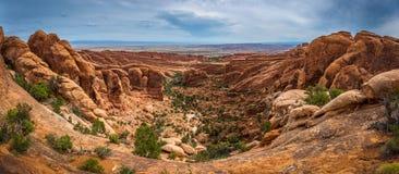 Sandstone desert lanscape Royalty Free Stock Photos