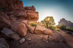 Sandstone desert lanscape Stock Images