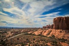 Sandstone desert lanscape Royalty Free Stock Image