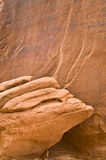 Sandstone Detail. Detail on a sandstone formation in Arches National Park Stock Photos