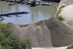 Sandstone dock Stock Photo