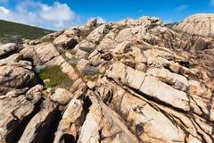 Sandstone em rochas do canal, Fotografia de Stock Royalty Free