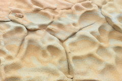 Sandstone ripple marks Royalty Free Stock Photos