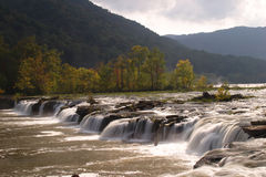Sandstone Falls. On the New River in West Virginia Stock Photos