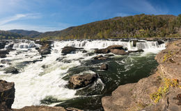 Sandstone Falls on New River Summers County West Virginia royalty free stock photo