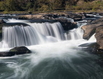 Sandstone Falls on New River Summers County West Virginia stock photo