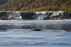 Sandstone Falls on New River Summers County West Virginia stock photography