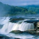 Sandstone Falls in fog. Sandstone Falls in West Virginia in fog Royalty Free Stock Photography
