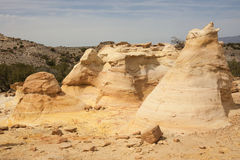 Sandstone formation. Colorful sandstone formations in New Mexicos Wilderness Stock Image