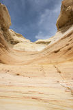 Sandstone formation. Colorful sandstone formations in New Mexicos Wilderness Stock Photos