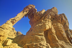 Sandstone formation called Elephant Rock in Valley of Fire State Park, NV Royalty Free Stock Photography