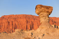 Sandstone formation in Ischigualasto, Argentina. Stock Photography