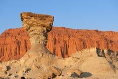 Sandstone formation in Ischigualasto, Argentina. Stock Image