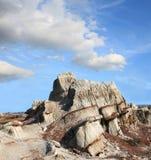 Sandstone Formation, Theodore Roosevelt N P. Unique sandstone formationat Theodore Rossevelt National Park  North Dakota Stock Photo
