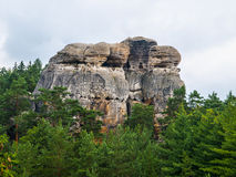 Sandstone formations in Bohemian Paradise Stock Photography
