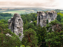Sandstone formations in Bohemian Paradise Royalty Free Stock Images