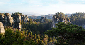 Sandstone formations in Bohemian Paradise. Czech Republic royalty free stock photo