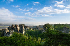 Sandstone formations in Bohemian Paradise Stock Image