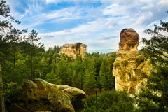 Sandstone formations in Bohemian Paradise Stock Photo