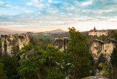 Sandstone formations in Bohemian Paradise, hdr Royalty Free Stock Images