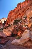 Sandstone Formations, Capital Reef National Park. Colorful sandstone formations, Capital Reef National Park Stock Photography