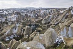 Sandstone formations in Cappadocia. stock photography