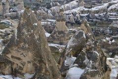 Sandstone formations in Cappadocia. royalty free stock photo