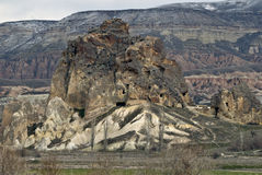 Sandstone formations in Cappadocia. Royalty Free Stock Photos