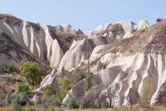 Sandstone formations in Cappadocia Stock Images