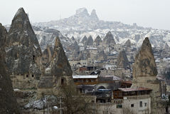 Sandstone formations in Cappadocia, Turkey. Stock Photos