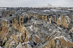Sandstone formations in Cappadocia, Turkey. royalty free stock images