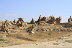 Sandstone formations in Cappadocia Stock Images