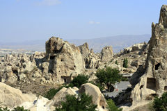 Sandstone formations in Cappadocia Stock Photo