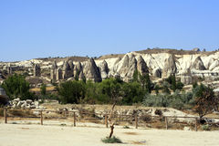 Sandstone formations in Cappadocia Stock Photos