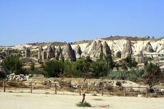 Sandstone formations in Cappadocia Stock Photos