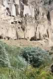 Sandstone formations in Cappadocia Royalty Free Stock Photography