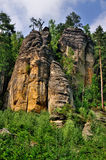 Sandstone Formations, Czech Republic. The rock formations of Teplice in Eastern Bohemia in the Czech Republic Stock Photo