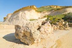 Sandstone formations. Gozo island, Malta royalty free stock photos