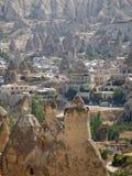 Sandstone Formations In Cappadocia Royalty Free Stock Photos