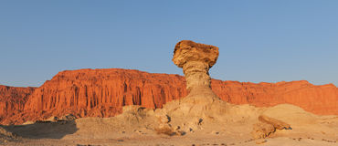 Sandstone formations in Ischigualasto, Argentina. Royalty Free Stock Photography