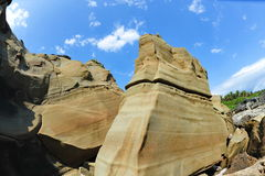Sandstone formations in Little Yeliou Royalty Free Stock Photography