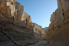 Sandstone formations in Negev desert. Royalty Free Stock Photos