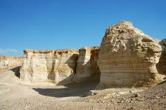 Sandstone formations in Negev desert. Stock Images