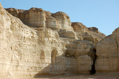 Sandstone formations in Negev desert. Stock Photos