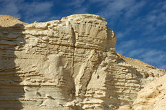Sandstone formations in Negev desert. Royalty Free Stock Images