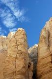 Sandstone formations in Negev desert. Royalty Free Stock Photo